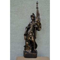 Figurka św. Floriana ze sztandarem 91 cm