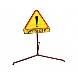 Znak WYPADEK na stojaku