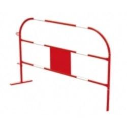 Bariera stalowa biało-czerwona długość 1,5m