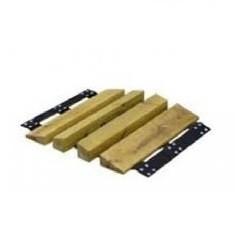 Mostek przejazdowy drewniany 52x75x110x75x52