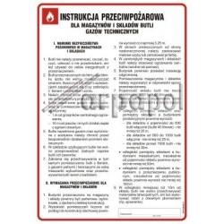 Z.DB 007 dla magazynów i składów butli gazów techn