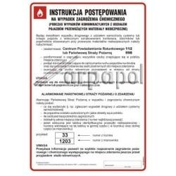 Z.DB 018 w razie zagrożeń chemicznych