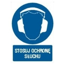Z.GL Stosuj ochronę słuchu 29,7x21 005 DJ PN