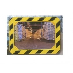 Lustro przemysłowe 2 kierunkowe żółto-czarne 80x60