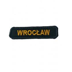 Emblemat haftowany z nazwą miejscowości