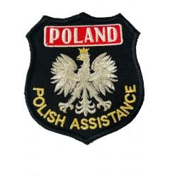 Emblemat haftowany Polish Assistance