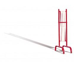 Barierka nożycowa stalowa czerwono-biała 3 m