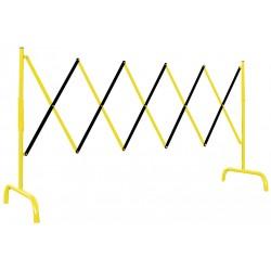 Bariera nożycowa stalowa żółto-czarna 3 m