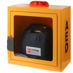 Szafka ścienna z alarmem do defibrylatorów LP 1000