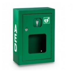 Szafka na defibrylator zielona 42 x 30 x 15 +alarm