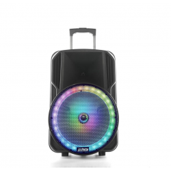 Kolumna mobilna LED 15''/38cm USB BT MIC FM PARTY