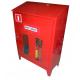 Punkt przeciwpożarowy w szafie na budowę