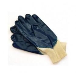 Rękawice robocze nitrylowe ciężkie ze ściągaczem