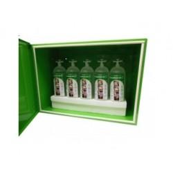 Aparat do płukania oczu 5-butelkowy (5l) w szafce