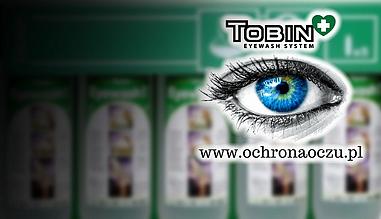 Ochrona oczu Tobin, oczomyjki, prysznice, urządzenia